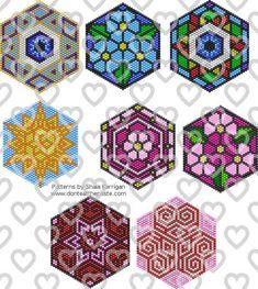 Jewelry: Mandala Brick Stitch Patterns