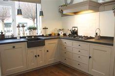 keuken wit met hout landelijk - Google zoeken: