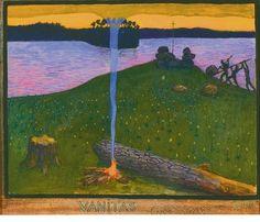 Luonnos teokseen Vanitas (Kristinusko ja pakanuus) 1900.