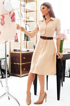 Eva Mendes Interview Fashion Line NY And Co - Formal outfits☆ - Modest Fashion Fashion Line, Work Fashion, Modest Fashion, Fashion Dresses, Classy Outfits, Chic Outfits, Inspired Outfits, Formal Outfits, Dress Skirt