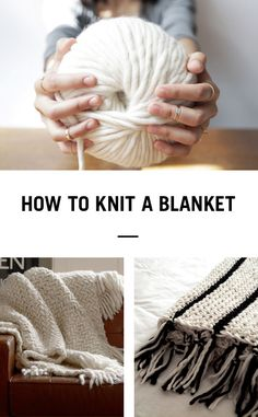 Learn how to knit a blanket in no time using Wool and the Gang's Crazy Sexy Wool and 25mm knitting needles