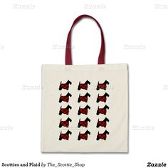 Scotties and Plaid Budget Tote Bag