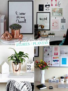 Decoração de escrivaninha estilo Pinterest: o que usar?