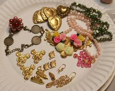 WTW 4/4/18 .. B'sue stampings are on my work table this week .. Necklace, Earrings and maybe a bracelet .. by Vintage-Redeux2