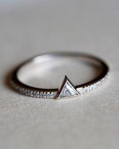 Geo diamond ring #ring #jewellery