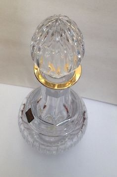Marquis by Waterford Hanover Gold Crystal Decanter GORGEOUS #Waterford