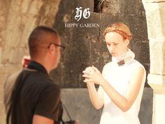 "Hippy Garden Showroom Masarykova 5 www.hippygarden.net  Making of, A/W-12/13, ""A Brace of Mysticism, Love and Faith"" http://hippygarden.net/a-bracce-of-mysticism-love-and-faith-the-hippy-garden-collection-fall-winter-2012-13/?lang=en  #fashion #brand #design #hippygarden #croatia #masarykova5 #behindthescenes #white #shirt #model"