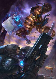 ArtStation - Heroes of the Storm contest - Thrall vs Raynor, Rafael Teruel
