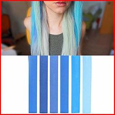 Dye your hair simple & easy to ombre teal hair color - temporarily use ombre teal hair dye to achieve brilliant results! DIY your hair ombre with hair chalk Turquoise Hair Ombre, Teal Ombre Hair, Teal Hair Color, Dyed Hair Blue, Color Your Hair, Purple, Human Hair Color, Hair Chalk, Mermaid Hair