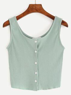 Fabric: Fabric has some stretch Season: Summer Color: Green Pattern Type: Plain Neckline: Round Neck Material: Cotton Blend Style: Casual Shoulder(cm): 33cm Bust(cm): 72-82cm Length(cm): 42cm Size Ava