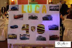 Compleanno, 40 anni, tema Porsche, macchina, Porsche, festa, tableau, birthday, car, handmade, auto, Italia, OlgArt Porsche, Photo Wall, Frame, Home Decor, Party, Italy, Autos, Board, Picture Frame