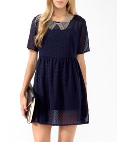Sheer Dotted Swiss Dress | FOREVER21 - 2017420953