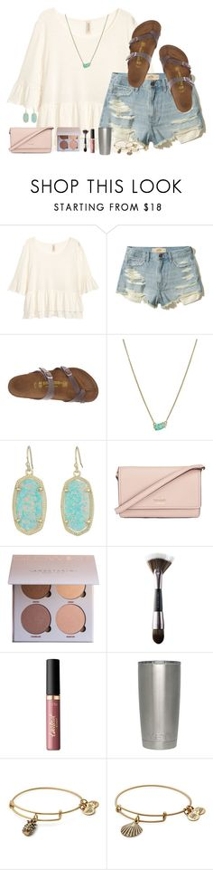 """might do a shopping haul in my next set"" by typical-lizzie ❤ liked on Polyvore featuring H&M, Hollister Co., Birkenstock, Kendra Scott, Kate Spade, Urban Decay, tarte and Alex and Ani"