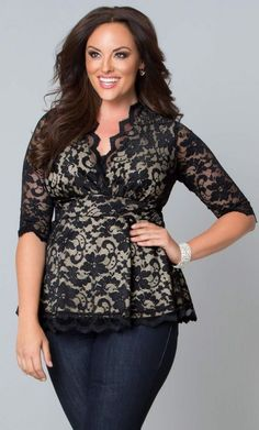 Plus Size Lace Top {affiliate link}