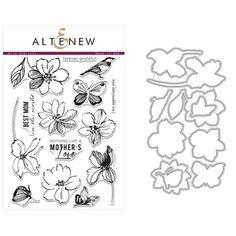 Altenew WILD HIBISCUS Clear Stamp and Die BUNDLE