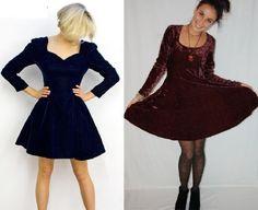 Vestidos de inverno - couro e veludo - VilaMulher: