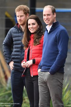 Prince William, Duke of Cambridge, Catherine, Duchess of Cambridge and Prince Harry join Team Heads Together at a London Marathon Training Day at the Queen Elizabeth Olympic Park on February 5, 2017 in London.