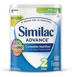 Similac Advance Infant Formula with Iron, Stage 2 Powder, 1.93 Pounds Can, Pack of 4 (Packaging May Vary)  http://www.personalcareclub.com/similac-advance-infant-formula-with-iron-stage-2-powder-1-93-pounds-can-pack-of-4-packaging-may-vary/