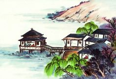 New print available on lanjee-chee.artistwebsites.com! - 'Chinese Landscape 3' by Lanjee Chee - http://lanjee-chee.artistwebsites.com/featured/chinese-landscape-3-lanjee-chee.html