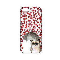Grumpy Cat Alla hjärtans dag Lonely Mönster plast Hard Case för iPhone 5/5S – SEK Kr. 32