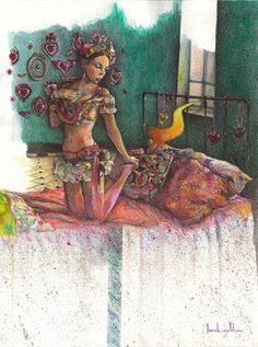 "Saatchi Online Artist daniel levy; Painting, ""belinda and madnes"" #art"