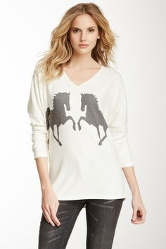 Mustangs Sweater by Go Couture on @HauteLook
