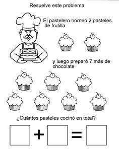 Resultado de imagen para problemas de suma para niños de inicial de 4años