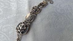 Antique Victorian Sterling Silver Slide Bracelet