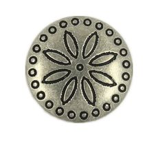 Simple Flower Carving Retro Silver Metal Shank Buttons - 18mm - 11/16 inch