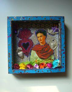 blog Semiotics Tina Modotti, Diego Rivera Art, Day Of The Dead Diy, Kahlo Paintings, Frida Art, Diy Shadow Box, Artist Project, Box Art, Art Boxes
