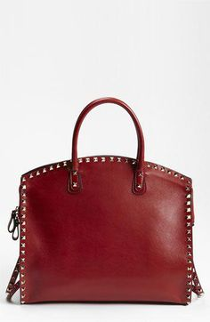 4c84f0e8268e Valentino  Rockstud  Leather Dome Satchel available at  Nordstrom   Valentino Hermes Handbags