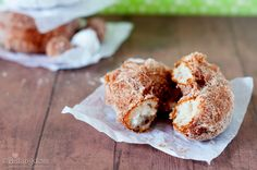 ****biscuit dough donuts - easy and yummo! My nephews LOVE it when I make these.****4