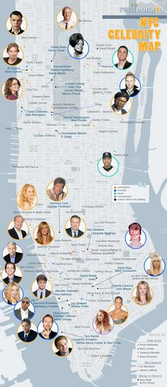 Here Now, All of New York's Celebrity Homes on One Map