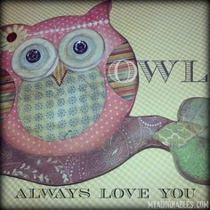 #owl #art #nursery #decor.  MyAdornables.com