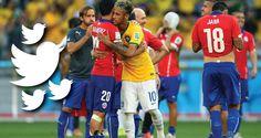 El partido entre Brasil y Chile durante el Mundial de Fútbol se convirtió en el evento más tuiteado durante la Copa del Mundo.