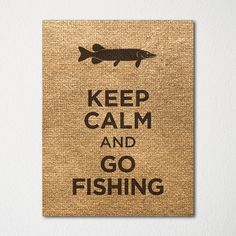 Keep Calm and Go Fishing - 8x10 Fine Art Print - Choice of Color - Purchase 3 and Receive 1 FREE on Etsy, $15.00