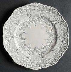 Arte Italica Merletto Antique Lace Salad Plate, Fine China Dinnerware by Arte Italica. $21.99. Arte Italica - Arte Italica Merletto Antique Lace Salad Plate - All Cream,Embossed Lace,Rim,Scalloped