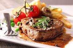 Juicy Grilled Ribeye Steak with Sweet Potato Fries