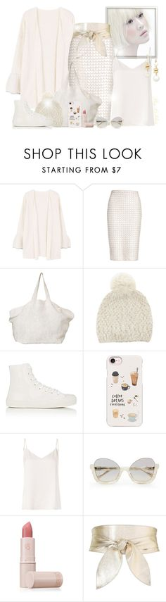 """""""~ In White ~"""" by li-lilou ❤ liked on Polyvore featuring MANGO, St. John, The Beach People, Barneys New York, Casetify, L'Agence, La Perla, Lipstick Queen, Witchery and Saks Fifth Avenue"""