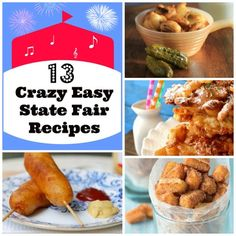 Have you ever visited a state fair? It's a treasure trove of some of the craziest, delicious recipes around. We've rounded up the best state fair-inspired recipes for you to try at home! State Fair Party, State Fair Food, New Recipes, Cooking Recipes, Favorite Recipes, Easy Recipes, Recipies, Easy Meals, Concession Food
