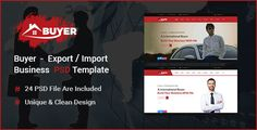 Buyer - Export/Import Business PSD Template by ThemeeBiT-WP Buyer is fresh PSD template with clean and creative design. This template is very suitable for Export/Import based company. We tried to build a simple design providing everything required for an Export/Import business website.If