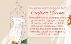 Livingly thinks I should wear a Empire dress to my wedding! What about you? - Quiz