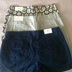 Shorts 3 pair All 3 included 2 from the loft one from the gap all size 10 LOFT Shorts Cargos
