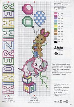 GRAFICOS INFANTILES PUNTO DE CRUZ (pág. 4)   Aprender manualidades es facilisimo.com