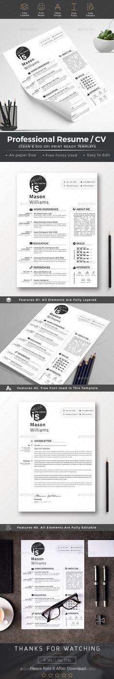 Profesional Resume Templates CV Design #Resume #Job #Search - subway resume