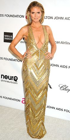 Heidi Klum in Julien McDonald  at the Oscars After Party 2013