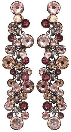 Konplott Armband Armkette Pearl /'n/' Ribbons elastisch smal pink antique cooper