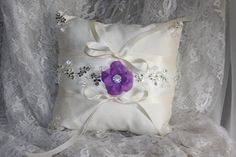 ring bearer pillow vintage inspired dupioni by TheCrystalFlower, $99.00