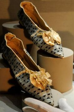 Shoes made for Princess Amelia (1782-1810), on display at Fairfax House, York, England