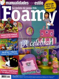 Como hacer un pastel en foamy Foam Crafts, Crafts To Make, Paper Crafts, Baby Shower, Projects To Try, Album, Handmade, Bolo Fake, Magazines